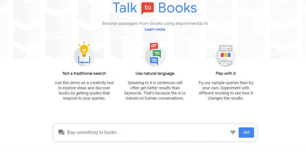 Google Talk To Books Nedir? – talk to books