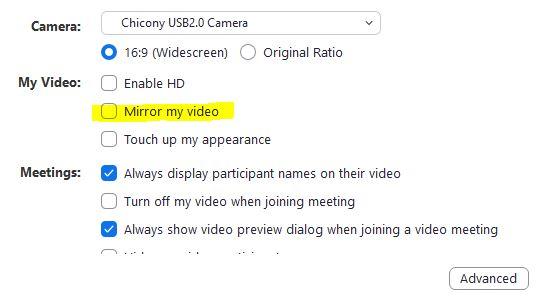 Zoom Kamera Ters Görüntü Sorunu Çözümü – zoom kamera ters